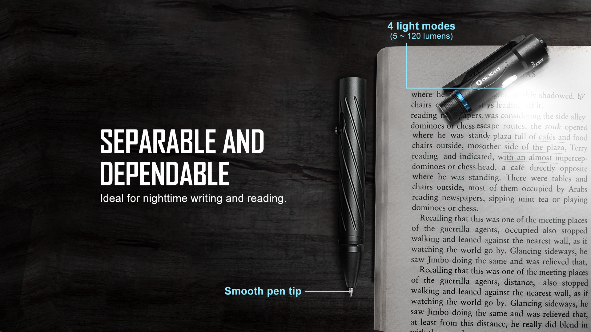 open 2 rechargeable pen light