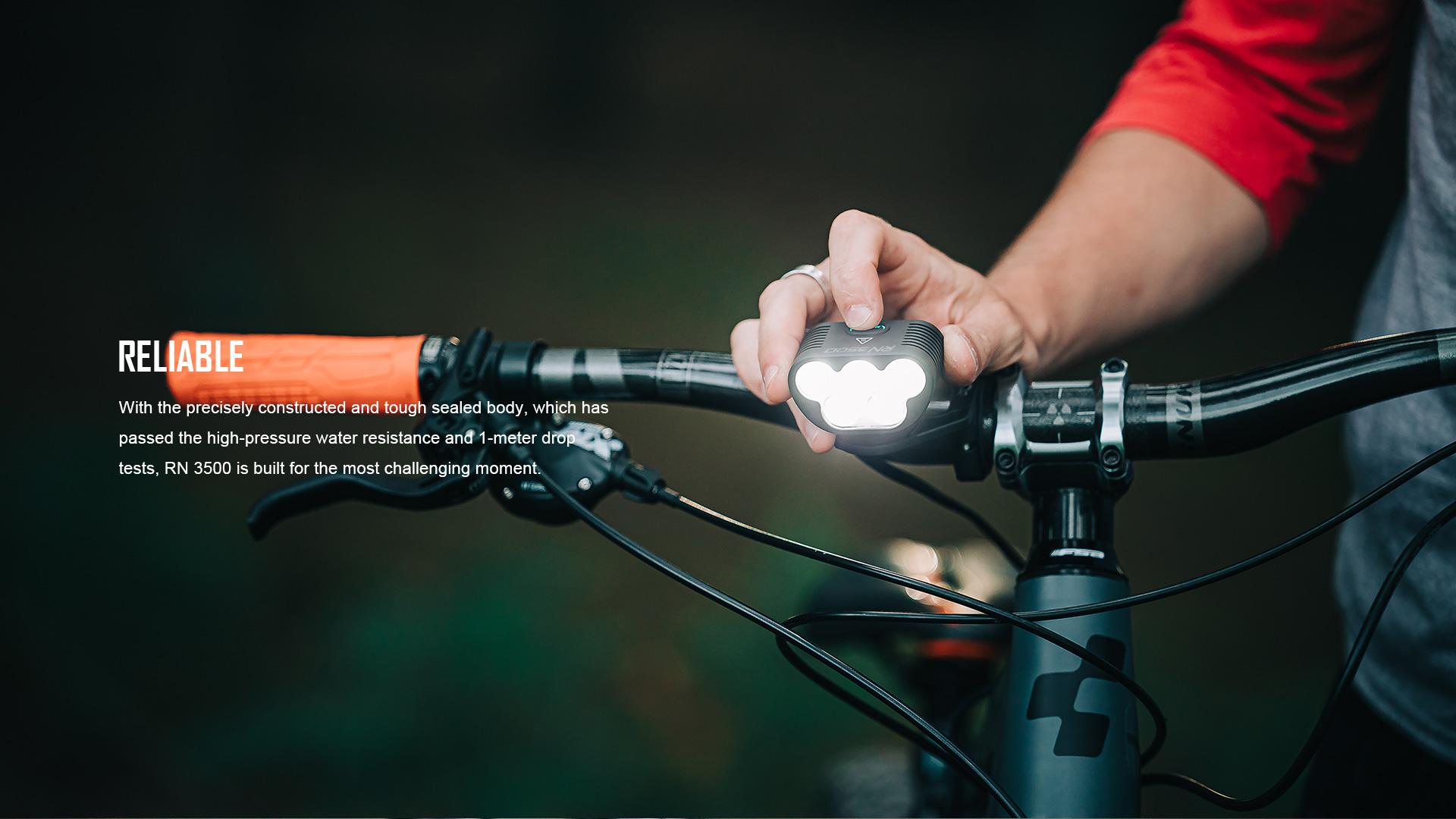 RN 3500 Bike light reliable
