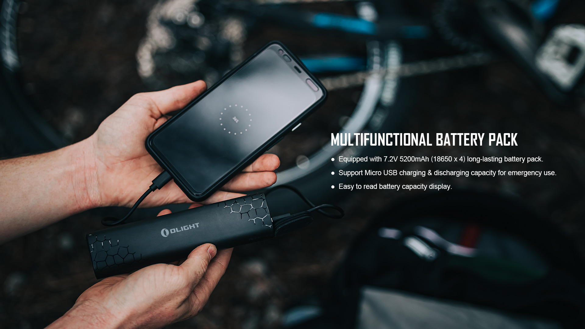 RN 3500 Bike light rechargeable